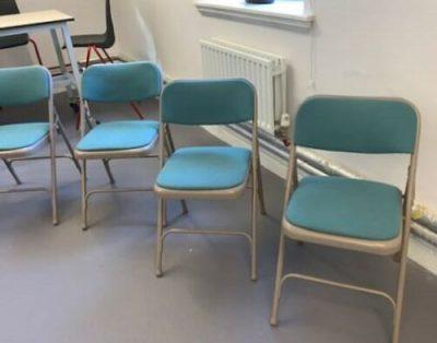 Składane krzesła konferencyjne – zielone