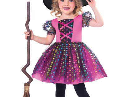 Strój czarownicy dla dziewczynki