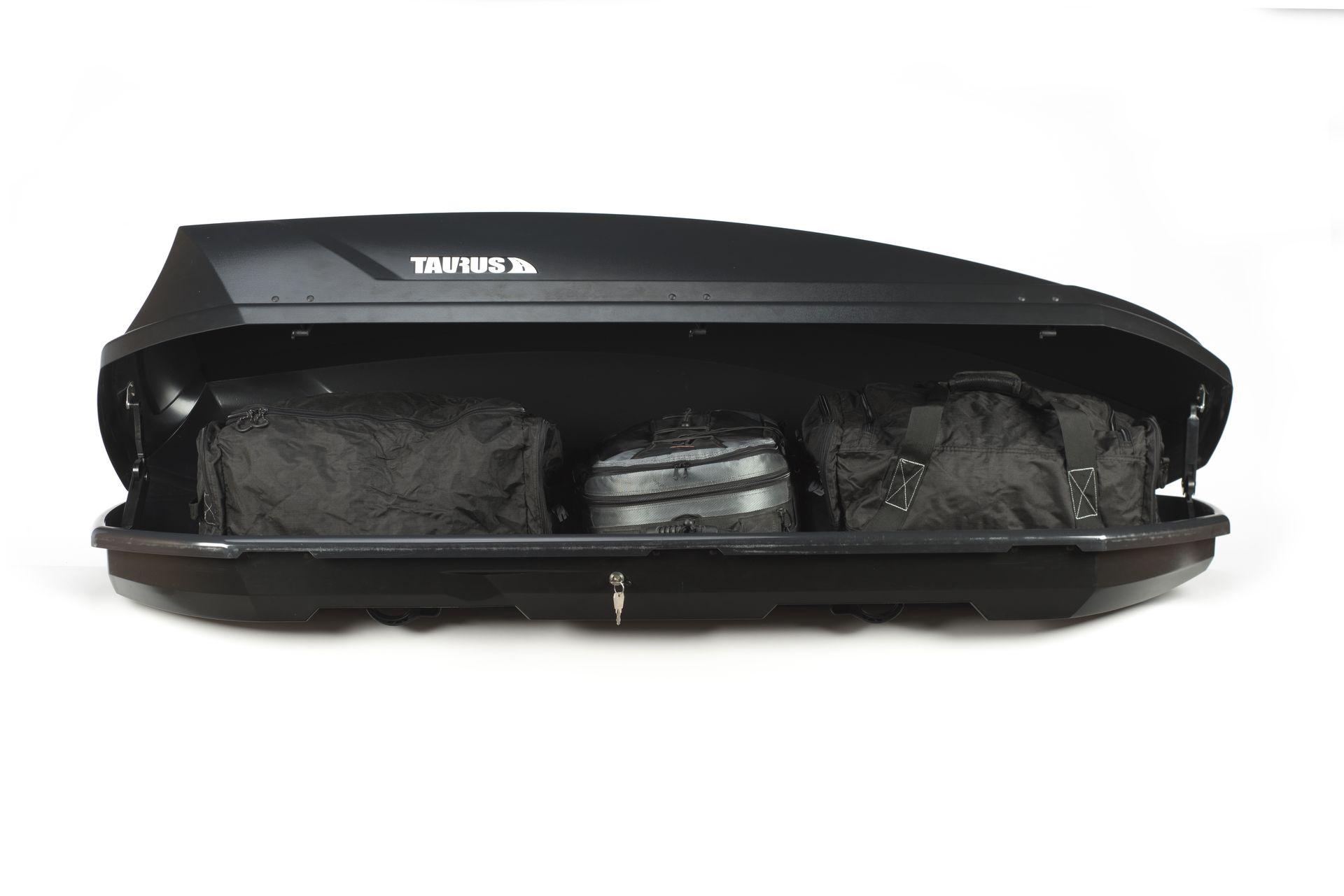 Box – bagażnik dachowy Taurus Adventure 340 czarny mat.